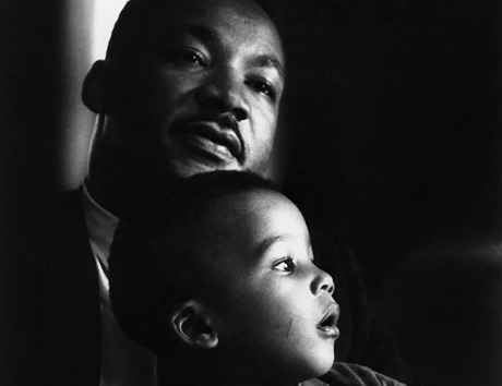 Dr. Martin Luther King., with son Dexter, Atlanta, 1964